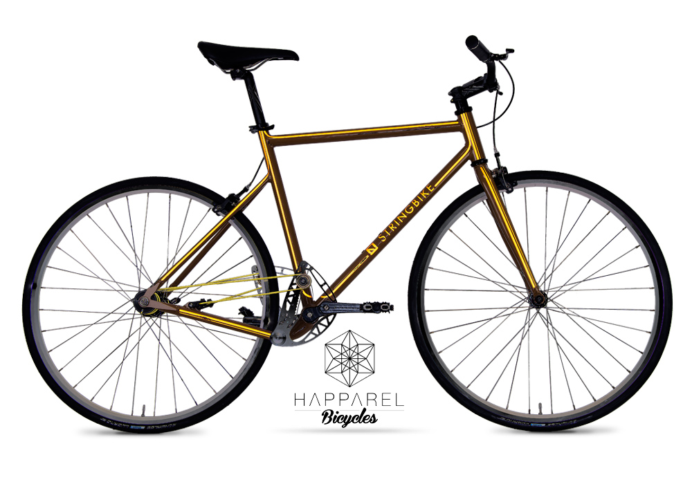 Stringbike | D signers Happarel | Unisex Coffee - nighttime view