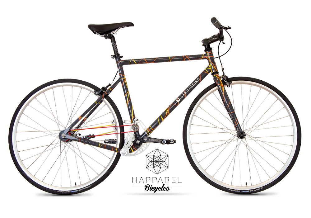 Stringbike | D signers Happarel | Unisex Graphite - daytime view