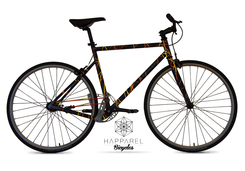 Stringbike | D signers Happarel | Unisex Graphite - nighttime view